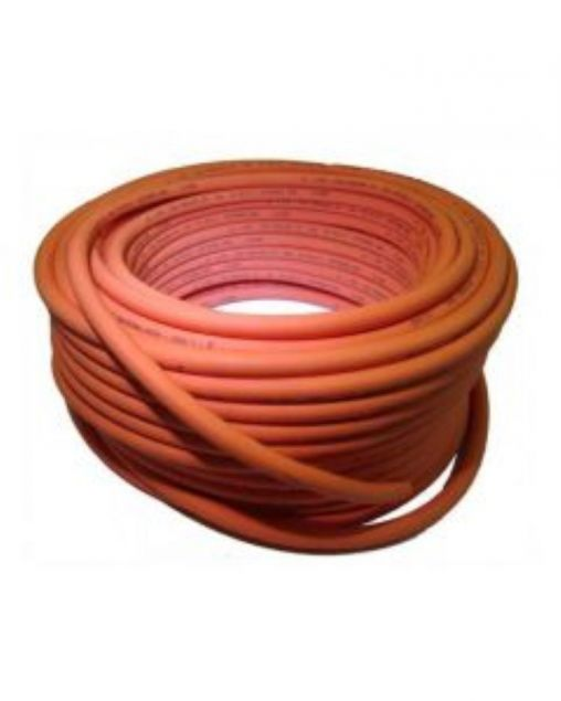 Orange gas hose per metre