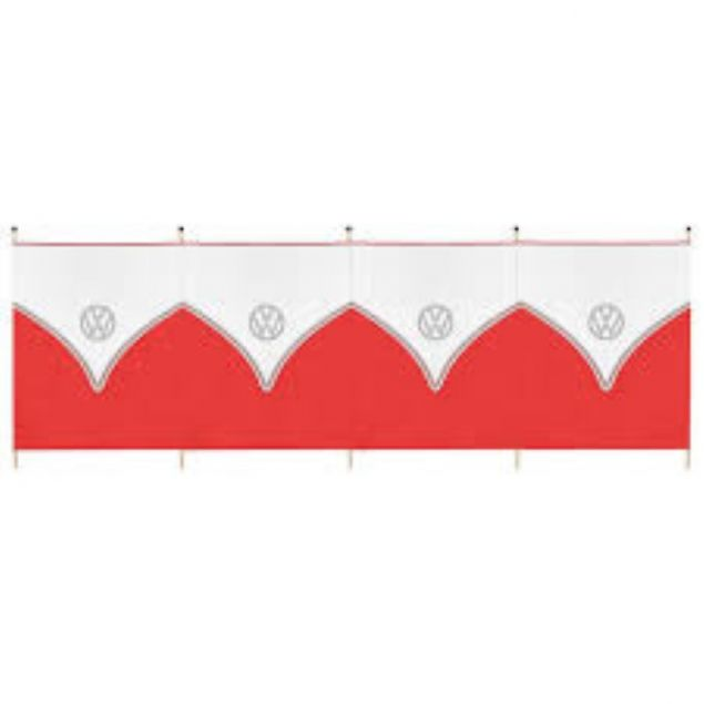 VW Windbreak 5 Pole - Red