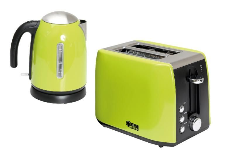 Quest 1.2l Kettle Green & 2 Slice Toaster Green