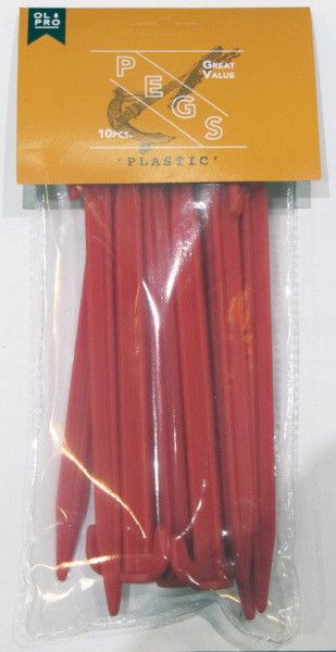 Red Plastic Peg (10)