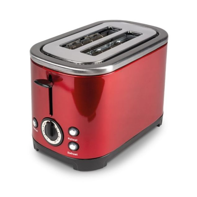 Kampa Deco Red Stainless Steel Toaster