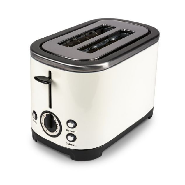 Kampa Deco Cream Stainless Steel Toaster