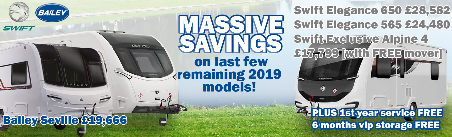 Last remaining 2019 caravans at great prices