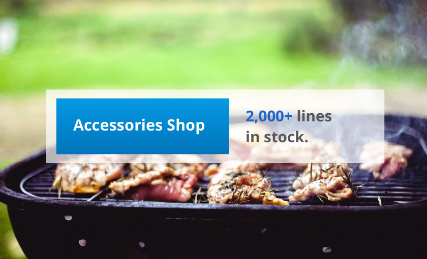 Over 2000 accessory lines in stock