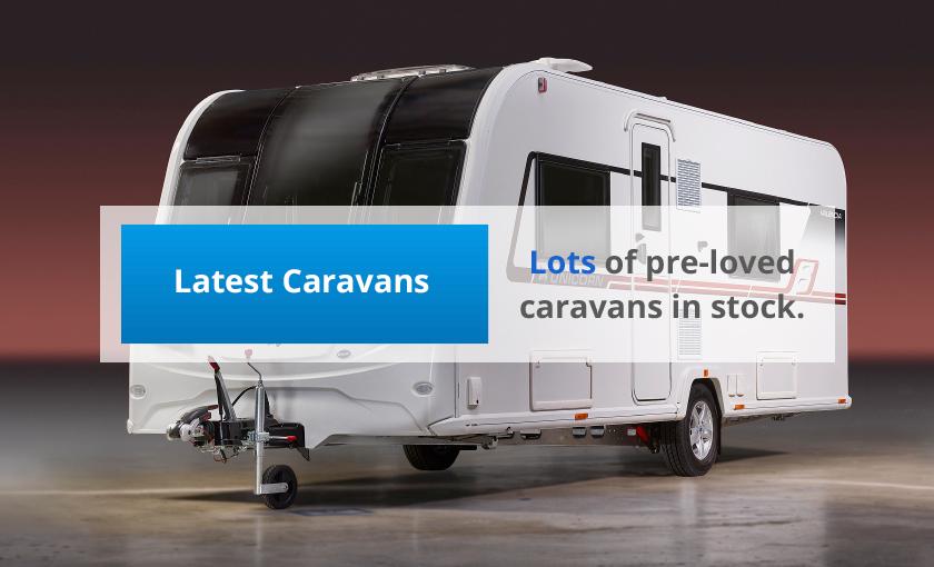 Lots of pre-loved caravans in stock